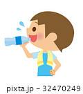 水分補給 飲む 子供のイラスト 32470249