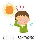 熱中症 日射病 子供のイラスト 32470250