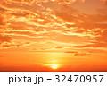 空 夕焼け 夕景の写真 32470957