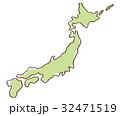 日本地図 日本 地図のイラスト 32471519
