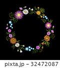 刺しゅう 刺繍 フローラルのイラスト 32472087