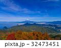 富士山 山 青空の写真 32473451