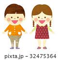 園児 女の子 男の子のイラスト 32475364