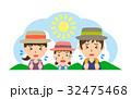 夏 行楽 熱中症のイラスト 32475468