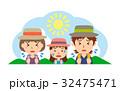 夏 行楽 熱中症のイラスト 32475471
