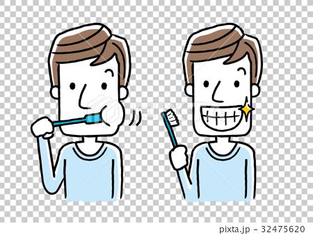男性:歯磨き 32475620