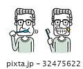 シニア男性:歯磨き 32475622
