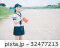 高校生 女性 メガホンの写真 32477213