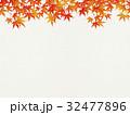 和を感じるイラスト(紅葉、和紙) 32477896