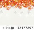 和を感じるイラスト(紅葉、和紙) 32477897