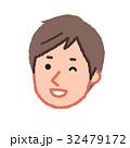 男性 人物 顔のイラスト 32479172