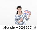 女性 国旗 イギリス 32486748