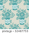 花 シームレス パターンのイラスト 32487753