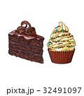 ケーキ カップケーキ ショコラのイラスト 32491097