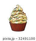 ケーキ カップケーキ ベクトルのイラスト 32491100