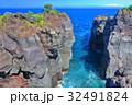 城ヶ崎海岸 崖 海岸線の写真 32491824