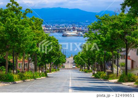 北海道 函館 八幡坂 32499651