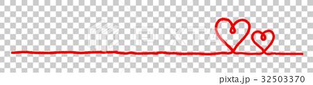赤い線のフレーム 32503370