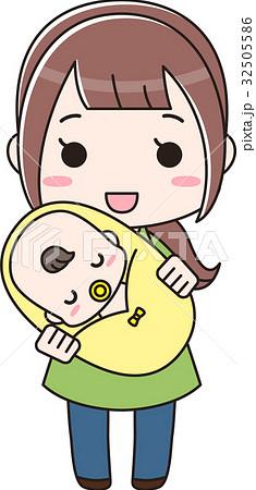 赤ちゃんを抱っこしている女性 32505586