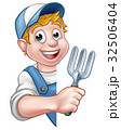 Gardener or Farmer Cartoon Character 32506404