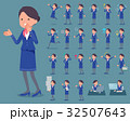flat type Cabin attendant blue woman_1 32507643