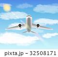 飛行機 エアロ 白のイラスト 32508171