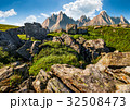 rocky peaks and rocks on hillside in Tatras 32508473