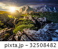 time change concept. rocky peaks of High Tatras 32508482