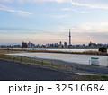 河川敷 土手 川の写真 32510684