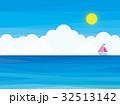海 雲 青空 ヨット 太陽 32513142