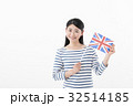 女性 国旗 イギリス 32514185