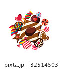 お菓子 ベクトル チョコレートのイラスト 32514503
