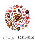 お菓子 ベクトル チョコレートのイラスト 32514510