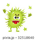 菌 キャラクター 文字のイラスト 32518640
