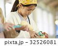 林間学校 料理する小学生 32526081