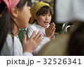 林間学校 食事する小学生 32526341