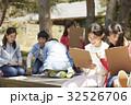 林間学校 写生する小学生 32526706