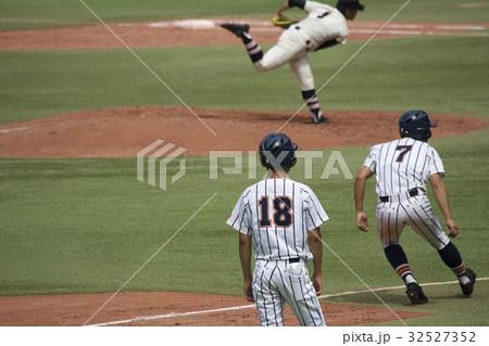 高校野球 ランナーコーチ 32527352