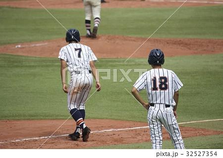 高校野球 ランナーコーチ 32527354