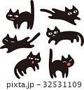 猫 黒猫 キャラクターのイラスト 32531109