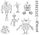 Cartoon Vector Robot Set 32533810