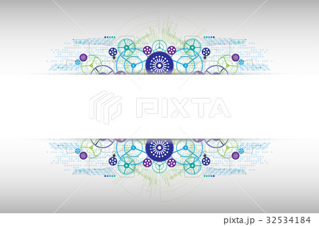 Vector abstract technology concept.のイラスト素材 [32534184] - PIXTA
