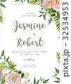 Wedding invitation, flower card design pink roses 32534953