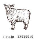 ひつじ ヒツジ 羊のイラスト 32535515