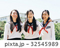 人物 高校生 女子の写真 32545989