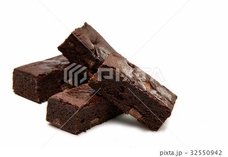 Chocolate Brownie isolatedの写真素材 [32550942] - PIXTA