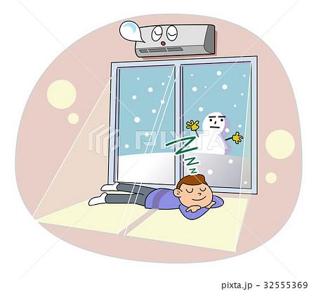 ロハスな暮らし-暖房の部屋 32555369