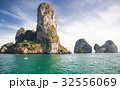 limestone formations in the Adaman sea, Thailand 32556069
