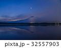 【静岡県】一番星輝く、田貫湖からの富士山 32557903