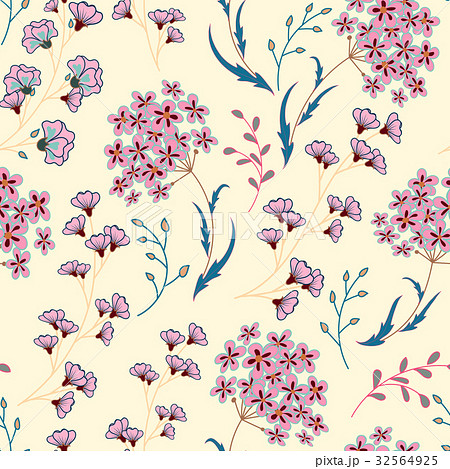 Cute Floral pattern in the small flower. Motifsのイラスト素材 [32564925] - PIXTA